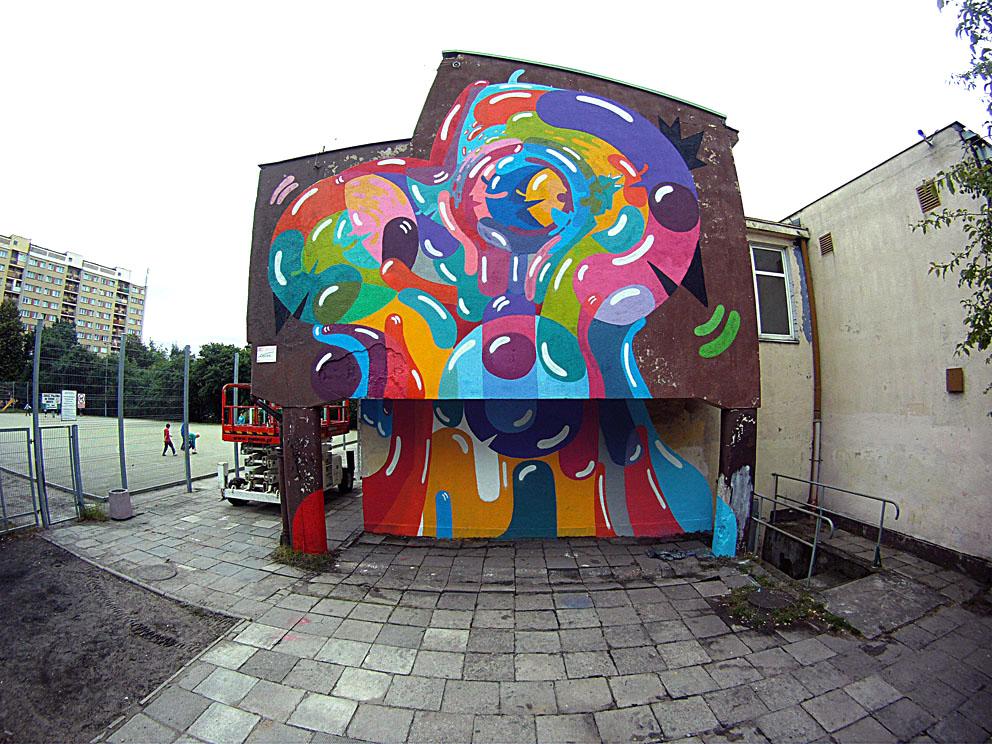 Prozak New Mural In Gdynia Poland Streetartnews
