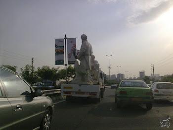 مجسمه فردوسی شاعر بزرگ حماسهسرای ایران از میدان فردوسی تهران برداشته شد