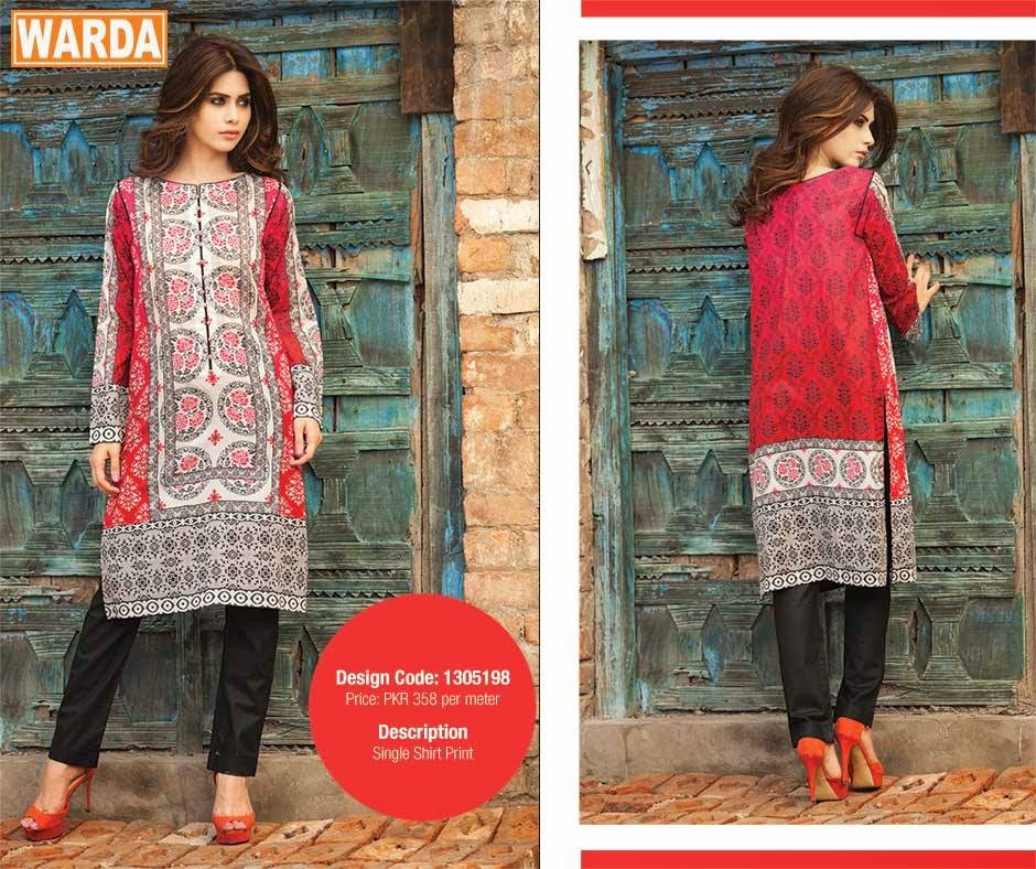 Warda S/S Lawn 2015 | Designer Lawn Suits 2015 - Styles99