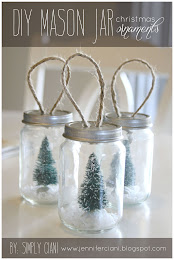 DIY MASON JAR ORNAMENTS