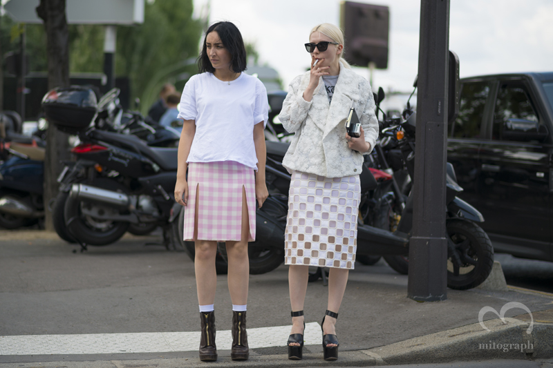 mitograph Elizabeth Fraser Bellm and Isabella Burley Before Dior Homme Paris Mens Fashion Week 2014 Spring Summer PFW Street Style Shimpei Mito