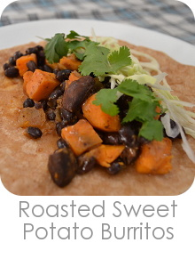 Roasted Sweet Potato Burritos