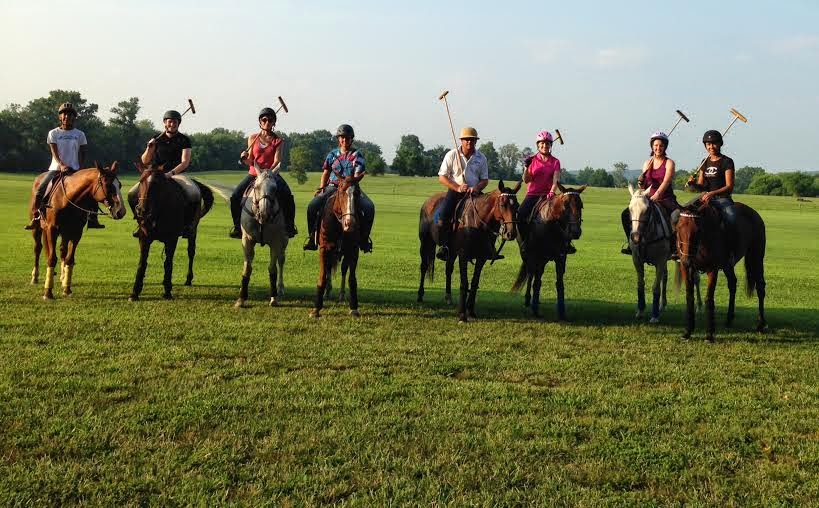 2014-Part of the Natural Connection gang at our first polo outing!