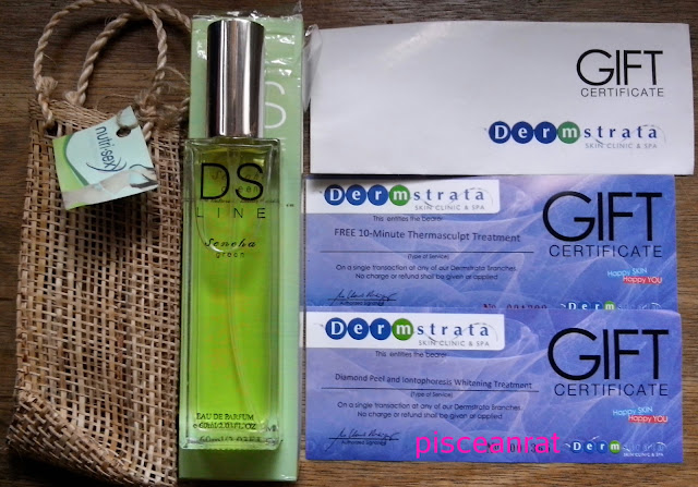 DS Line Sencha Green perfume, dermastrata gift certificate,
