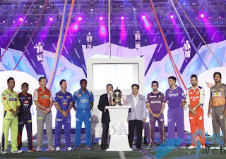 IPL Team Captains With IPL Trophy