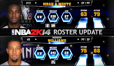 NBA 2K14 Derrick Williams-Luc Mbah a Moute Trade