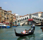 gondolázás Velencében
