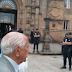 Darío Rivas de 94 años, no pudo entregar su carta a Angela Merkel
