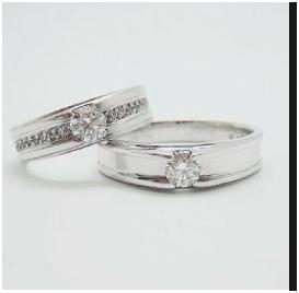 cincin kawin emas putih