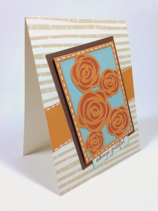 Close To My Heart Artfully Sent Cricut Cartridge Always Grateful card side view