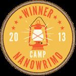 CampNaNoWriMo 2013 Winner