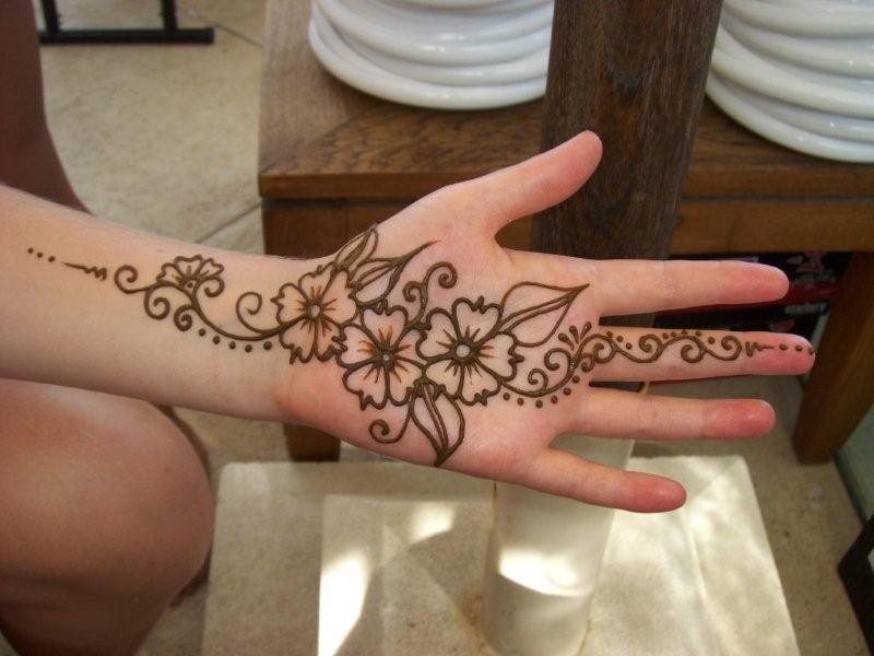 Printable Henna Designs For Hands  Que La Historia Me Juzgue