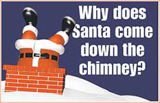 Santa Down the chimney