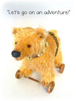 Antique Style Bear on Wheels!