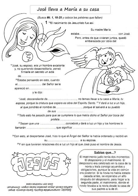 Parroquia La Inmaculada: Navidad: Fichas para niños. La