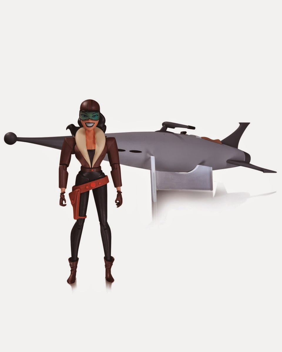 "Batman The Animated Series 6"" Action Figure Toy Line by DC Collectibles - Roxy Rocket 5.5"" Action Figure & Rocket Vehicle"