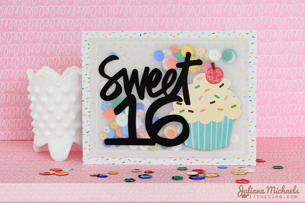 Sweet 16 Birthday Card by Juliana Michaels using Pebbles Inc Birthday Wishes