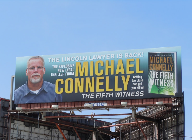 Michael Connelly 5th Witness book billboard