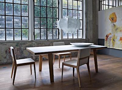 diseño de mesa blanca