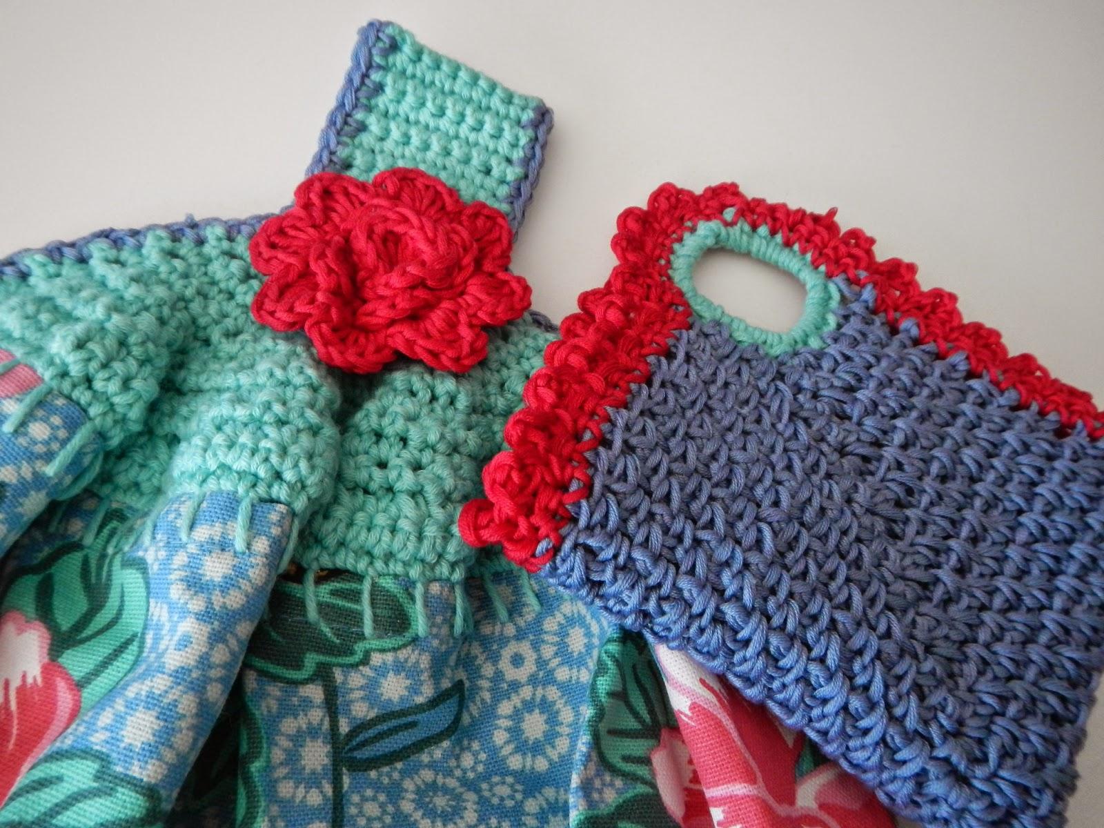 Apple Blossom Dreams: Linen Stitch Mitered Dish Cloth