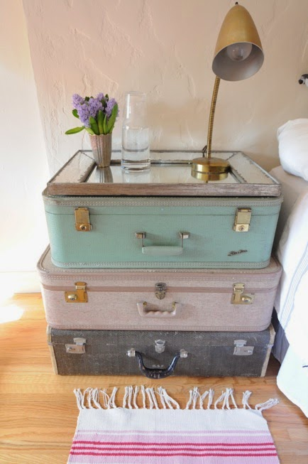 suitcase table decor