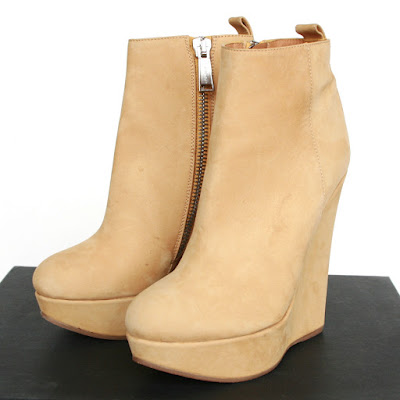 dsquared2 leather nubuck platform wedge boots