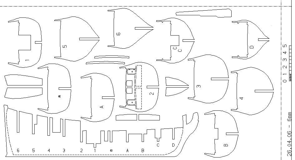 Как сделать кораблик из дерева по чертежам