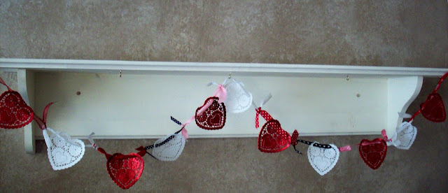 heart swag garland