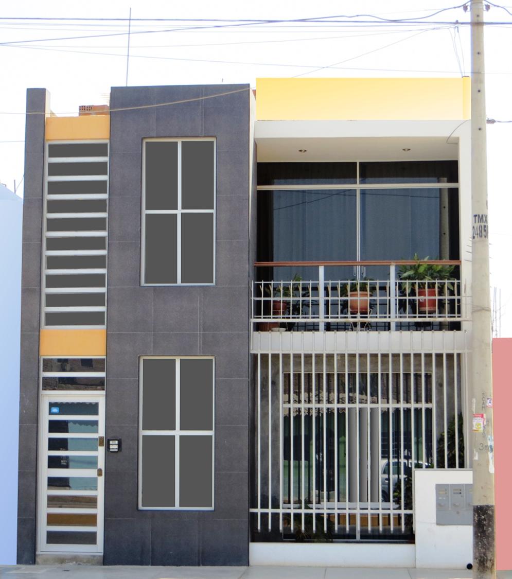 fachadas y casas linda fachada de seis metros