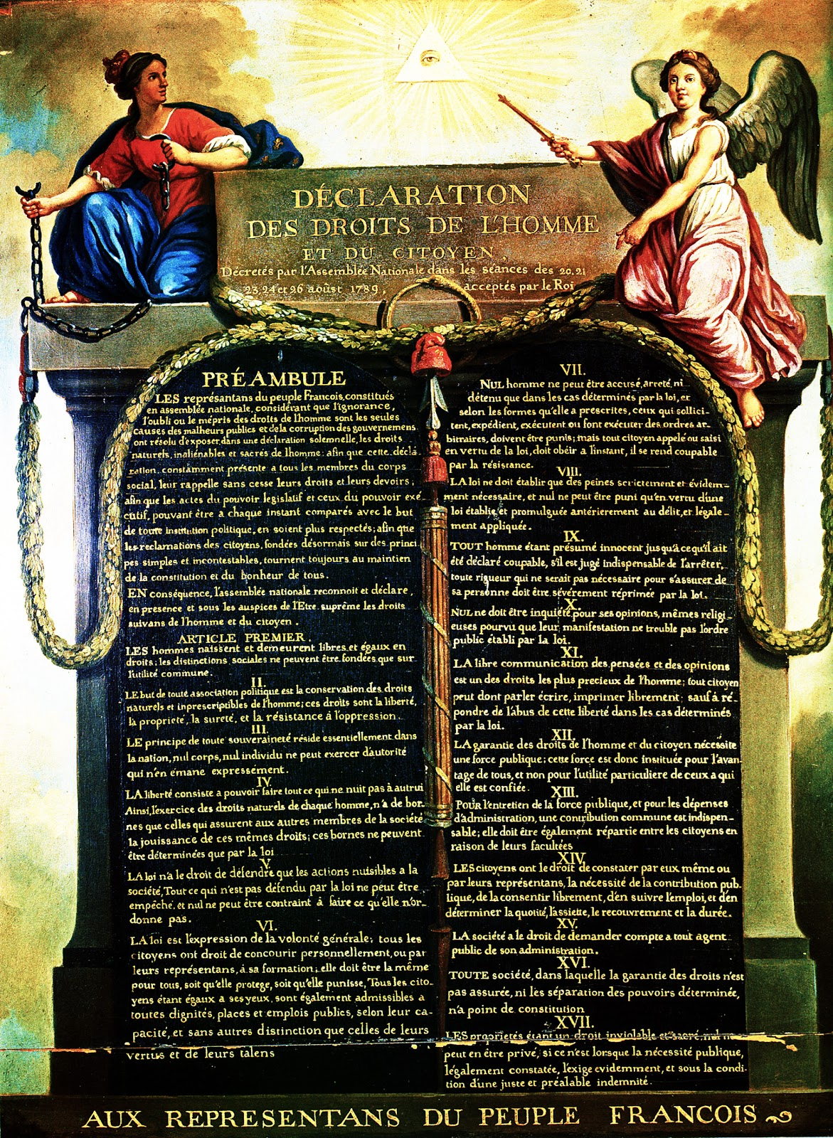 declaration of rights and man The representatives of the french people, organized as a national assembly, believing that the ignorance, neglect, or contempt of the rights of man are the.