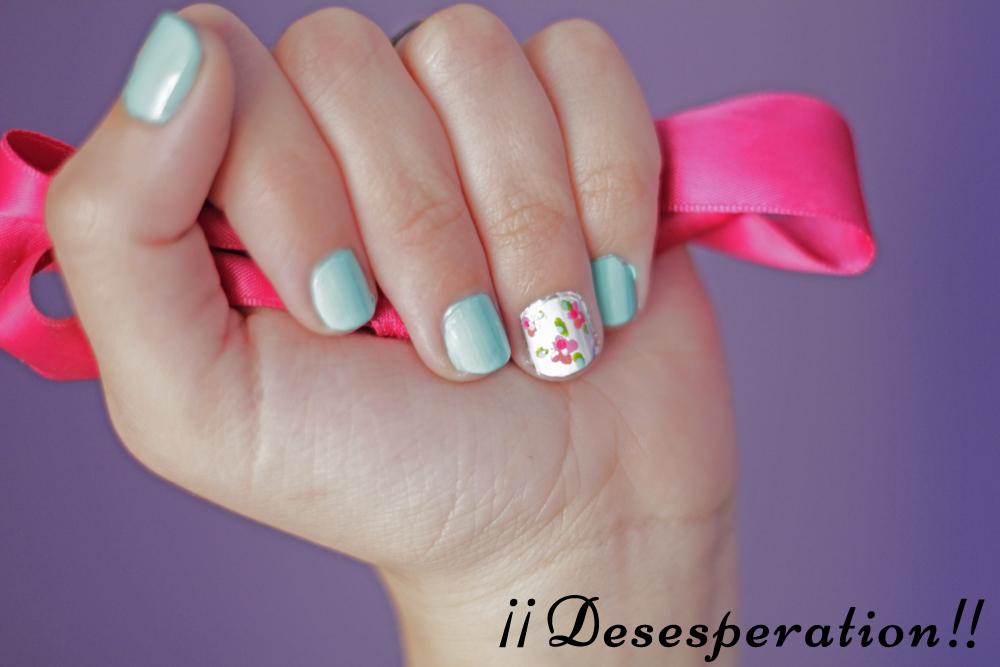 Desesperation!!: Diseño de uñas - Vintage Mint