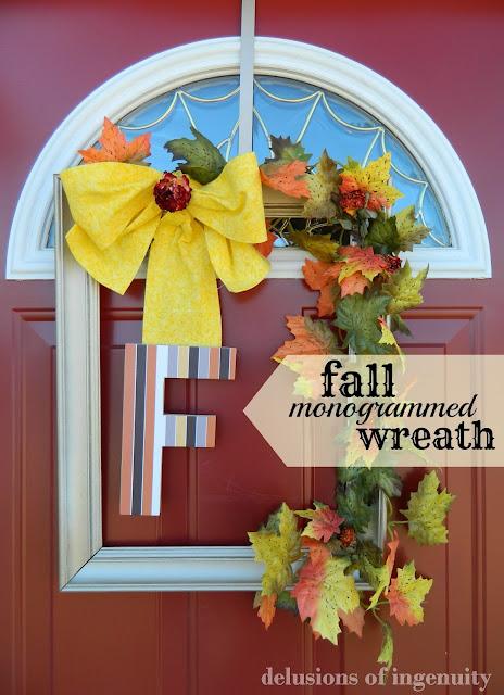 fall monogrammed wreath