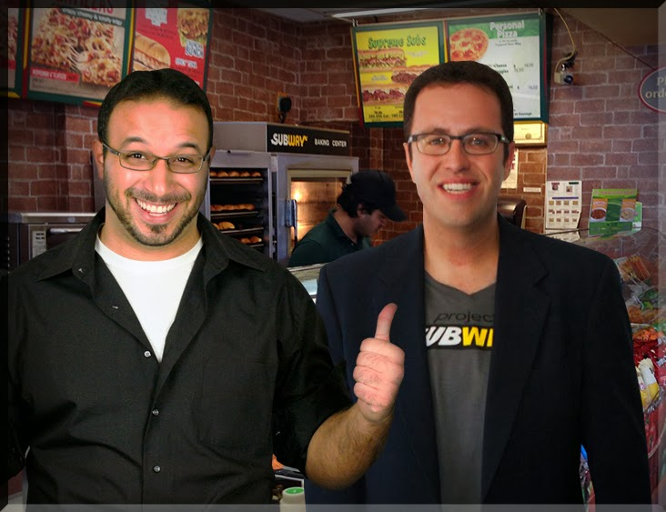 Comic John Powers Jared Fogle Subway Yoga Mat Sandwich