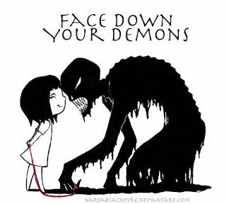 niña que controla a sus demonios