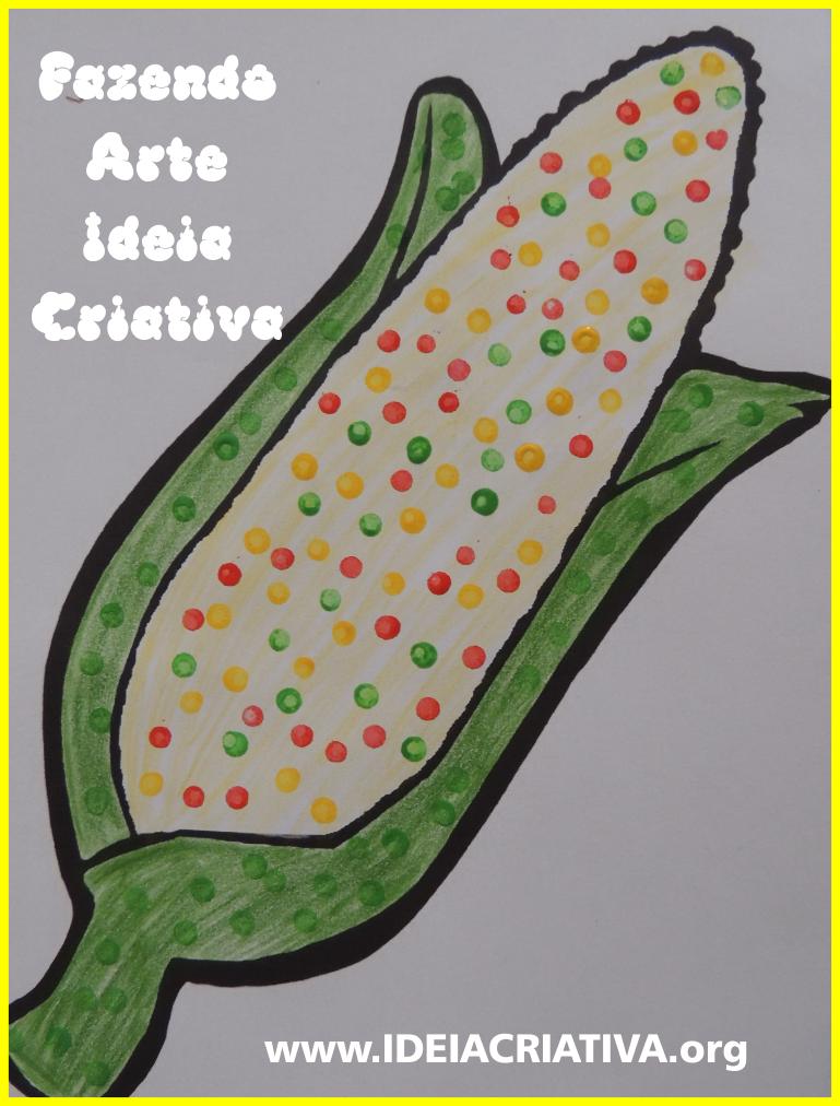 pintura-com-cotonete-milho-festas-juninas