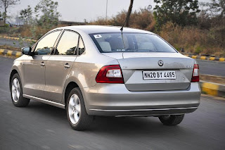 new skoda rapid rear view