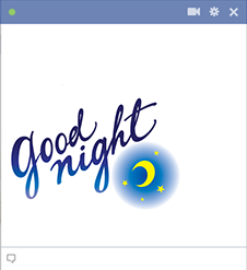 Good night textual emoticon for Facebook