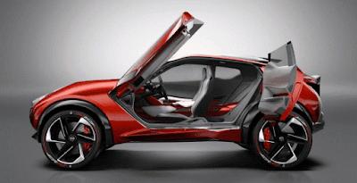 Desain Nissan Gripz diprediksi bakal menginspirasi model Juke terbaru, yang memiliki atap hitam buram yang tersambung hingga kap mesin, dengan istilah V-Motion