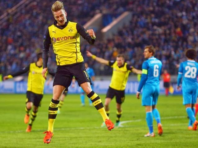 Borussia Dortmund vs Zenit Champions League