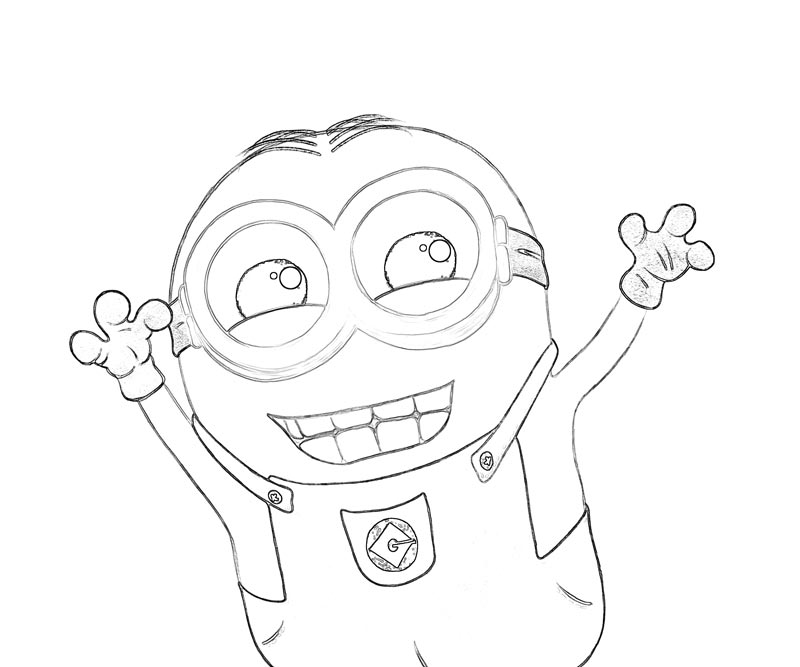 #4 Despicable Me 2 Coloring Page