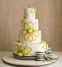 Martha Stewart Floral Wedding Cake