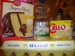 Lemon cake ingrediants