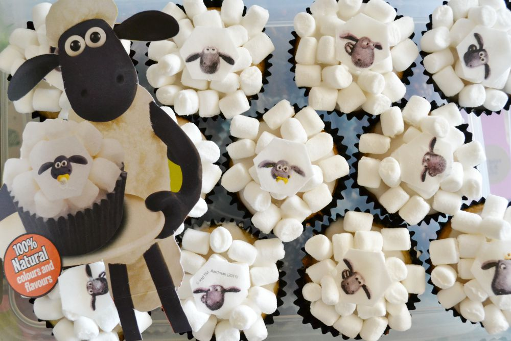 shaun the sheep fairy cakes marshmallows