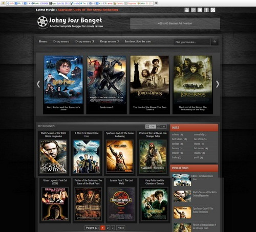 Johny Joss Free Movie Blogger Template Download 2016 [Mastemplate.com]