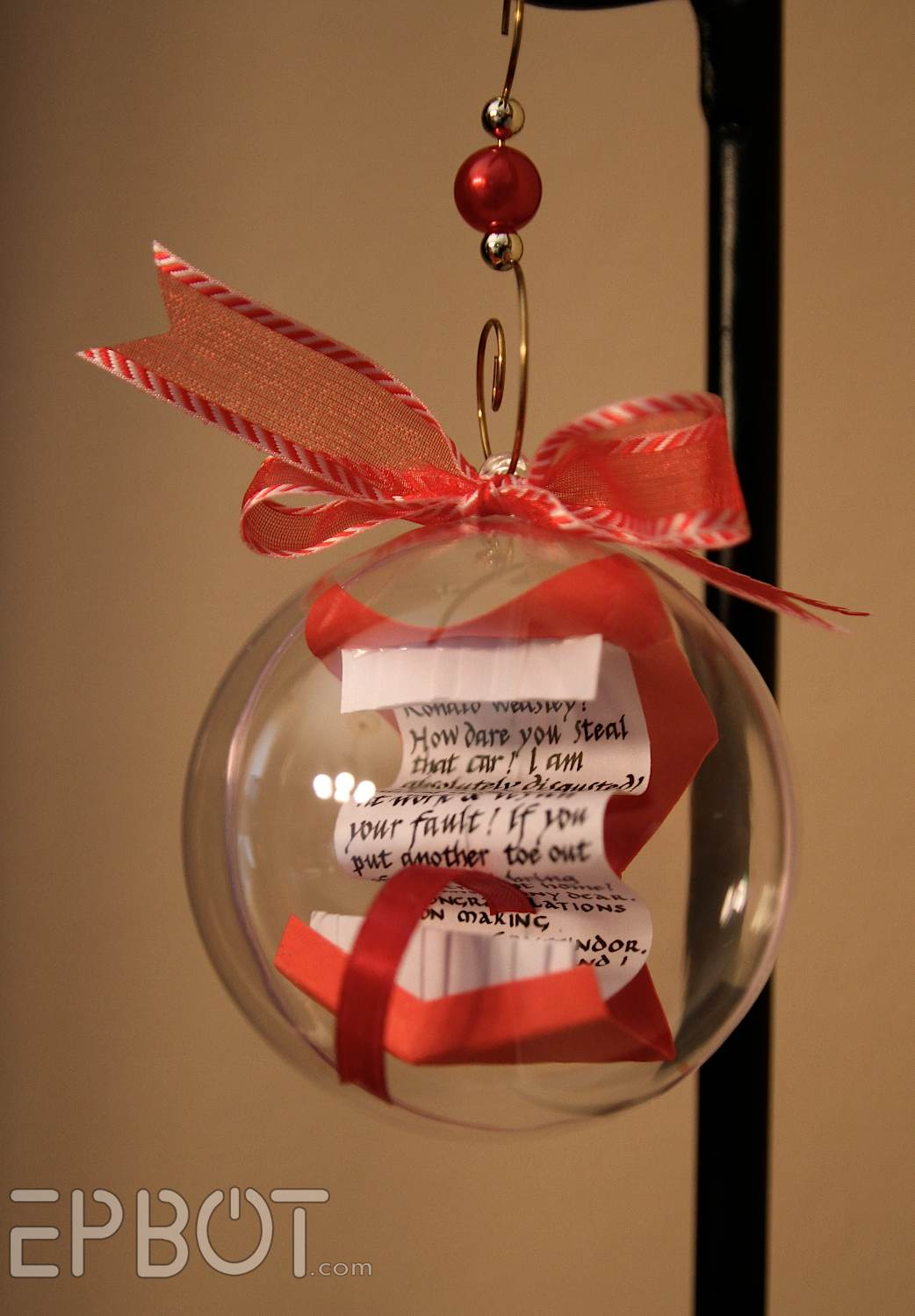 Harry potter christmas ornament - Incredible Floating Howler Craft From Harry Potter