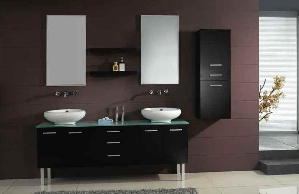 Modern bathroom vanities designs interior home design for Bathroom double vanity design ideas