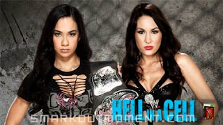 WWE Hell in a Cell 2013 Brie Bella wins Divas Championship Spoilers Results