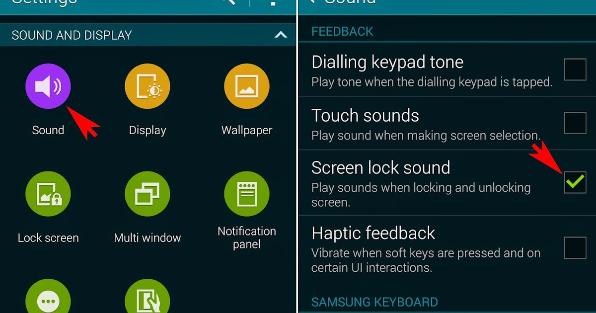 how to change lock sound on android