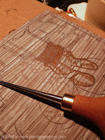lino carving and lino tools