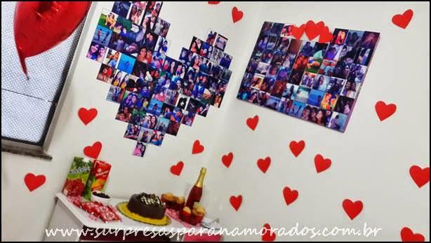 coração de fotos